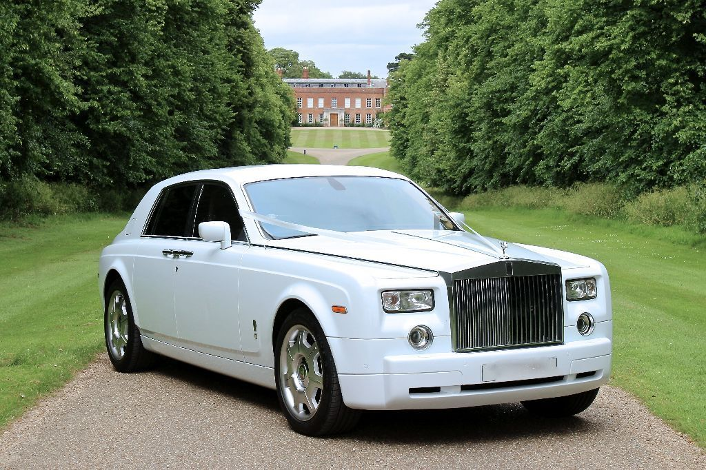Rolls Royce White Phantom Car White Phantom Car Hire